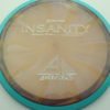 Insanity - swirly - blue-green - proton - silver - 304 - 1194 - 163g - 162-8g - somewhat-flat - neutral