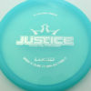 Justice - light-blue - lucid - silver - 304 - 173g - 174-1g - somewhat-flat - neutral