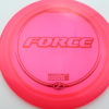 Force - redpink - z-line - red-lines - 304 - 170-172g - 173-5g - somewhat-domey - somewhat-stiff