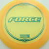 Force - yellow - z-line - teal - 304 - 173-175g - 175-6g - somewhat-domey - somewhat-stiff