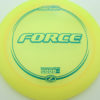 Force - yellow - z-line - teal - 304 - 173-175g - 174-7g - somewhat-domey - somewhat-stiff
