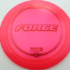 Force - pink - z-line - red-lines - 304 - 170-172g - 173-2g - somewhat-domey - somewhat-stiff