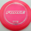 Force - pink - z-line - silver-flowers - 304 - 170-172g - 173-1g - somewhat-domey - somewhat-stiff