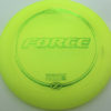Force - yellow - z-line - green-micro-dots-and-stars - 304 - 173-175g - 175-1g - somewhat-domey - somewhat-stiff