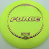 Force - yellow - z-line - purple-lines - 304 - 173-175g - 175-2g - somewhat-domey - somewhat-stiff