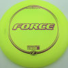 Force - yellow - z-line - purple-lines - 304 - 173-175g - 175-1g - somewhat-domey - somewhat-stiff
