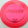 Force - redpink - z-line - red-lines - 304 - 170-172g - 173-4g - somewhat-domey - somewhat-stiff