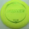 Force - yellow - z-line - green-micro-dots-and-stars - 304 - 173-175g - 175-8g - somewhat-domey - somewhat-stiff