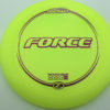 Force - yellow - z-line - purple-lines - 304 - 173-175g - 175-8g - somewhat-domey - somewhat-stiff