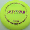 Force - yellow - z-line - purple-lines - 304 - 173-175g - 175-3g - somewhat-domey - somewhat-stiff