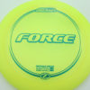 Force - yellow - z-line - green - 304 - 173-175g - 174-3g - somewhat-domey - somewhat-stiff