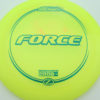 Force - yellow - z-line - green - 304 - 173-175g - 174-4g - somewhat-domey - somewhat-stiff