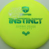 Mindful Disc Golf Mini Stamp Instinct - Nate Perkins - yellow - green - silver - 174g - 174-2g - somewhat-domey - neutral