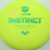 Mindful Disc Golf Mini Stamp Instinct - Nate Perkins - yellow - green - gold - 171 - 172-0g - somewhat-domey - neutral
