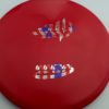 Mako3 - red - star - flag - 180g - 179-6g - somewhat-domey - neutral